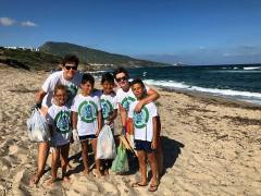 Valledoria - pulizia della spiaggia con i bambini