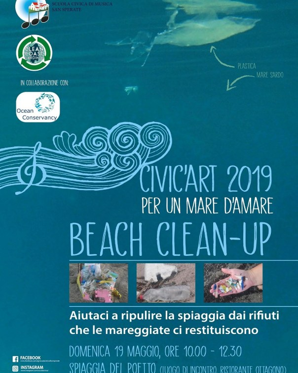 beachcleanup poetto beach Sardinia