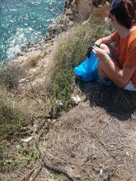 litorale di Calamosca raccolta rifiuti
