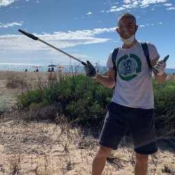 Marco the Clean Coast Sardinia volunteer