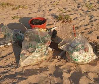 raccolta rifiuti spiaggia Porto Paglia luglio 2020