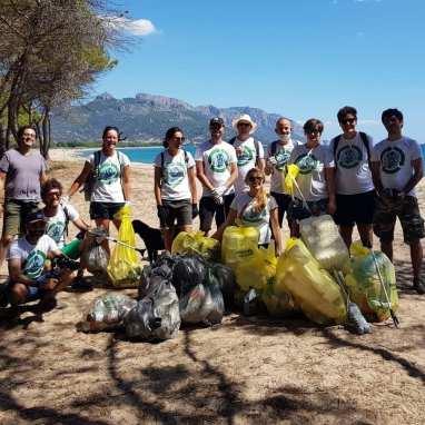 Team Clean Coast Sardinia in action Tortoli 2020