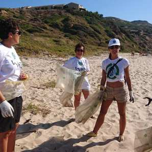 volunteers ready to go - Clean Coast Sardinia Porto Paglia 2020