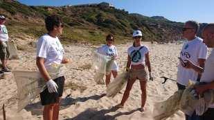 volunteers ready to go - Clean Coast Sardinia Porto Paglia 2020