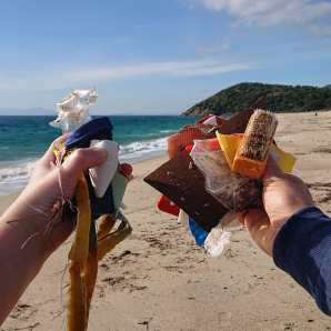 plastic waste found on the beaches JAN 2021 Sardinia